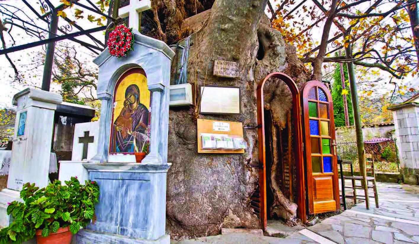 Αποτέλεσμα εικόνας για εκκλησάκι της Παναγίας της Πλατανιώτισσας